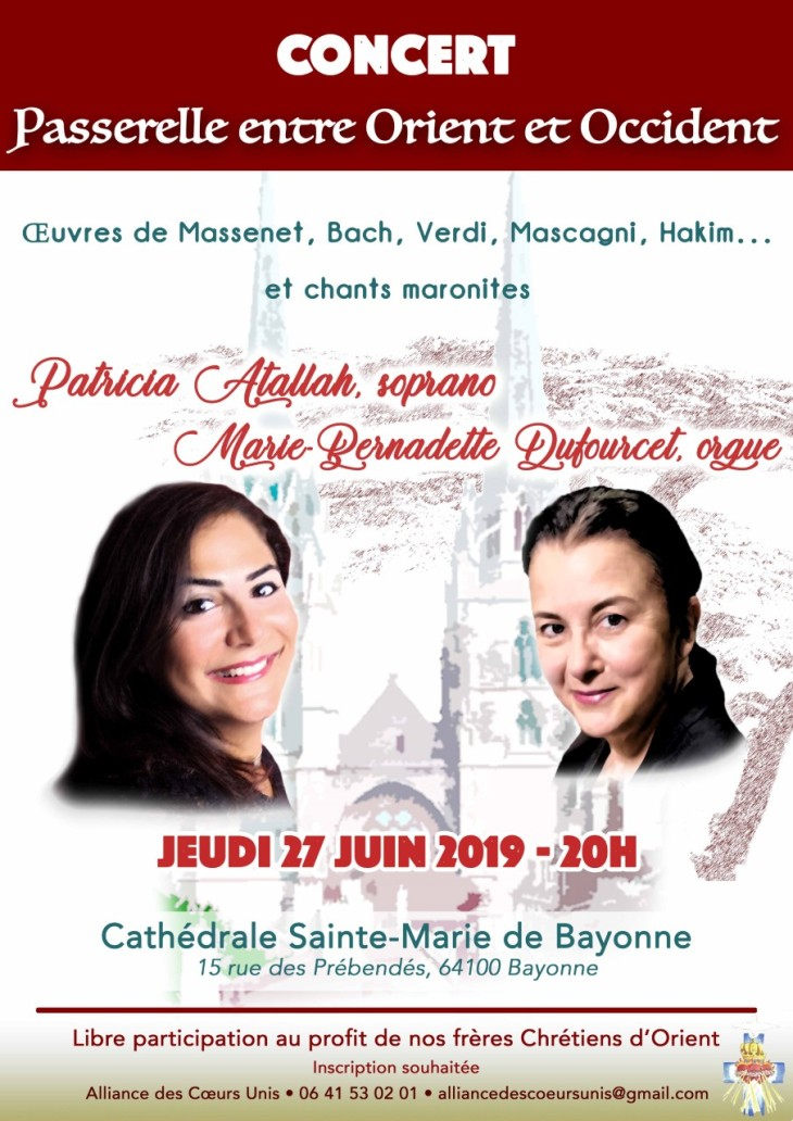 Affiche concert Bayonne 2019 Patricia et M.Bernadette