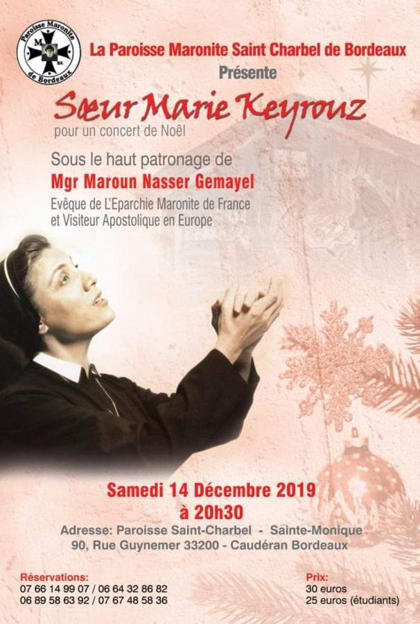 Concert samedi 14 décembre àBordeaux