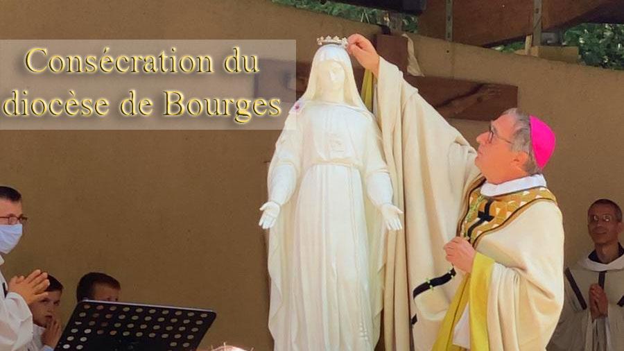 Quelle joie au Ciel et sur la terre lorsqu'un évêque consacre son diocèse aux Deux Saints Cœurs Unis de Jésus et deMarie