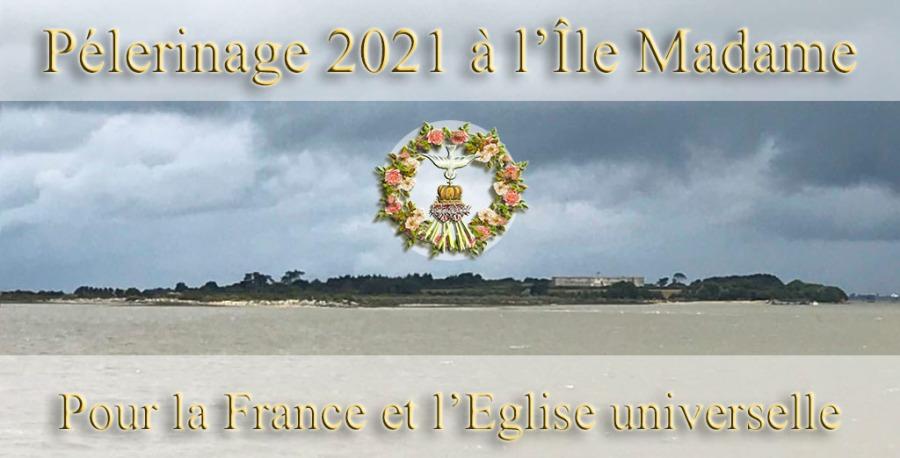 Île Madame : Tous heureux de porter la France et l'Eglise universelle malgré la tempête – Le soleil se dévoile dans un grand cielclair.