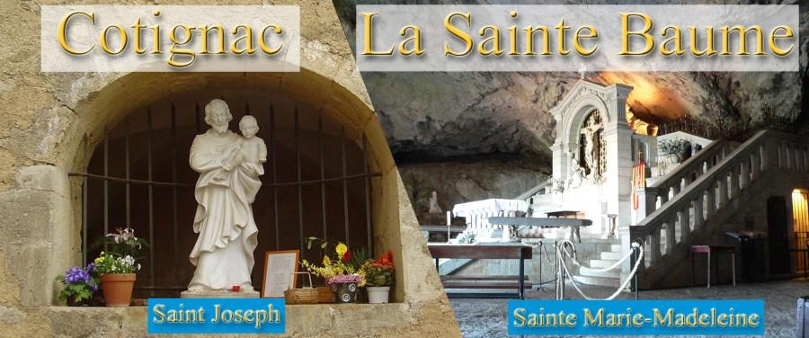 Mardi 12 et mercredi 13 octobre 2021 : Pèlerinages à Cotignac, St-Maximin & laSte-Baume